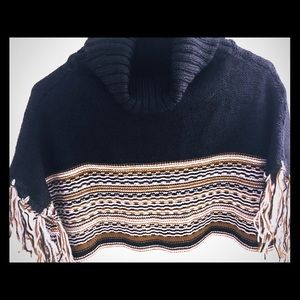 Sweaters - Two Tone Poncho